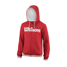 Wilson Team Script Full Zip Mens Tennis Hoodie