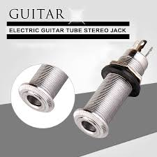 online buy whole stereo guitar jack from stereo guitar 1pcs electric guitar tube stereo jack inline electric bass jack guitar output socket interface connections hole