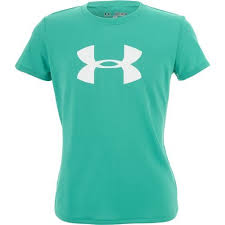 under armour shirts for girls. under armour® girls\u0027 big logo tech t-shirt armour shirts for girls d