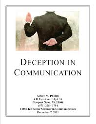 deception in communication senior seminar research paper is deception in communication senior seminar research paper is complete