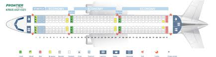 321 Seating Chart Seat Map Airbus A321 200 Frontier Airlines Best Seats In