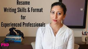 Resume Format For Experienced Professionals Youtube