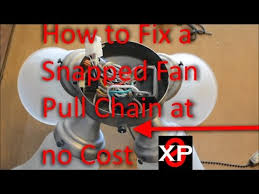 Ceiling Fan Pull Chain Broke Stunning Fix A Snapped Fan Pull Chain At No Cost How To YouTube