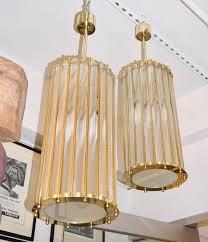 art deco italian brass crystal murano glass customizable pendant chandelier for