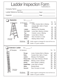 Inspection Form Ladder Inspection Checklist Fill Online Printable Fillable