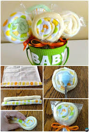 12 Handmade Baby Shower Gift Ideas [Picture Instructions] | Washcloth  lollipops, Handmade baby and Diy baby