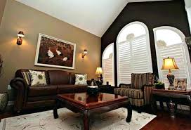 accent wall color for dark brown furniture what colors go well with paint ideas living room