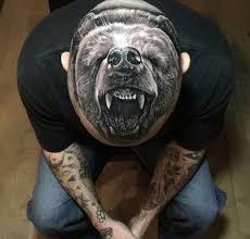 медведь фото тату