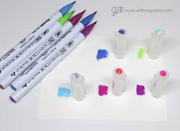 Zig Clean Color Real Brush Swatch Card Download And A