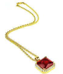 the gold s aura ruby pendant necklace