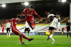 Liverpool's talisman goes for power, drilling the ball underneath the dive of areola. Fulham V Liverpool 2020 21 Premier League