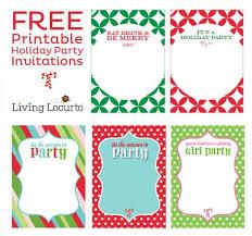 Free Printable Diy Holiday Party Invitations