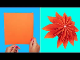 Easy Paper Origami Flower Easy Paper Flowers Making Origami Flower Making Tutorial
