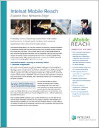mobile reach expand your network edge intelsat mobile reach brochure