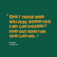 Quotes from Joko Riono: Only those who will risk going too far can ...