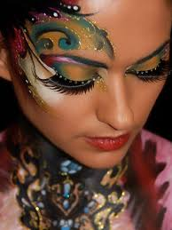 face painting eye make up pea face paint makeup