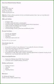 Entry Level Dental Assistant Cover Letters Dental Assistant Resume With No Experience Customized 33