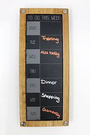 slate weekly planner with frame