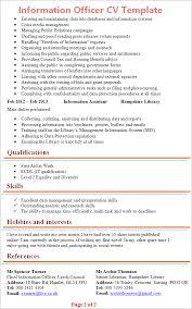 Information Officer Cv Template Tips And Download Cv Plaza