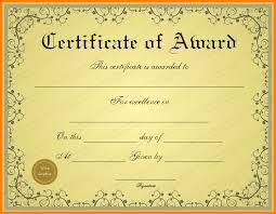 Best Paper Award Certificate Template Paper Awards Certificates