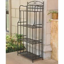 wrought iron plant stands outdoor fantastic outdoor bakers rack plant stand patio wrought iron shelves garden