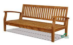 teak garden daybed wooden outdoor