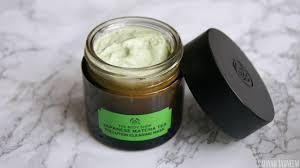 Body shop green tea mask review
