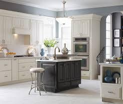 Off white kitchens Cabinets Sullivan Off White Kitchen Cabinets In Coconut With Dark Grey Kitchen Island In Storm Diamond Cabinets Offwhite Kitchen Cabinets Dark Grey Island Diamond