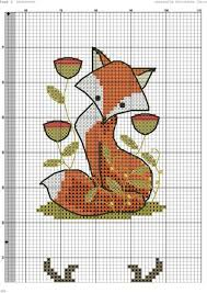 Chart Cross Stitch Free Cross Stitch Fox Free Chart Cross Stitch Bookmarks