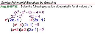 solving polynomial equations by grouping