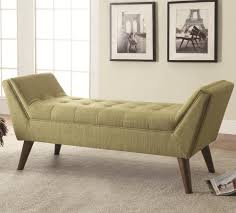 coaster benches midcentury modern upholstered accent bench  del