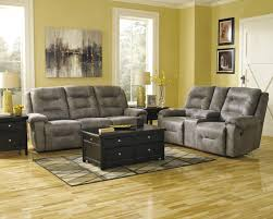 reclining living room furniture sets. Signature Design By Ashley Rotation - Smoke Contemporary Power Reclining Sofa With Chaise Style Leg Rests And Pillow Arms | Wayside Furniture Living Room Sets R