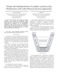 Mechatronic Systems Analysis Design And Implementation Pdf Design And Implementation Of Complex Systems Using