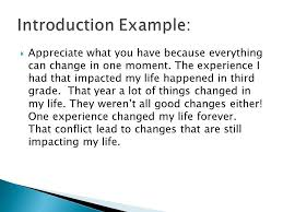 how does conflict lead to change a narrative essay is a story a 8 iuml129frac12 appreciate