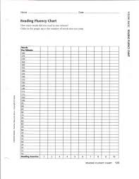 75 Bright Reading Fluency Chart Template