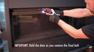enviro c series gas fireplace glass door removal
