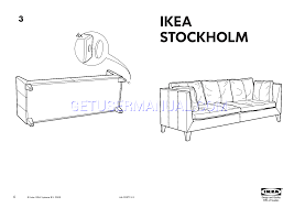 ikea chairs stockholm leather sofa frame assembly instruction free