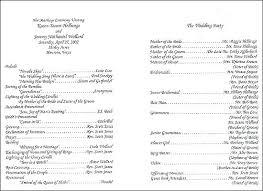 Wedding Reception Program Templates Wedding Program Ideas Wording Braxextras Co
