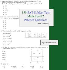150 sat subject test math level 2 practice questions and solutions
