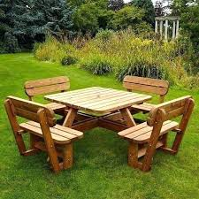 full image for large round wooden garden table and chairs round wood outdoor table and chairs