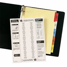 Avery 11901 Template Avery Big Tab Insertable Plastic Dividers 11901 8 Multicolor Tabs 1 Set