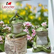 2 yoga frogs zen yoga statue
