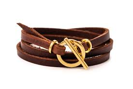 gold leather bracelet for woman leather wrap bracelet with toggle clasp and genuine leather