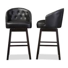 baxton studio avril modern and contemporary black faux leather