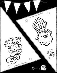 Vlaggen Knutselen Voor Sinterklaas Kiddicolour