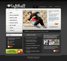 Baseball Websites Templates Sport Website Template 19485