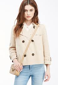 cropped trench coat beige trenchcoat by forever 21