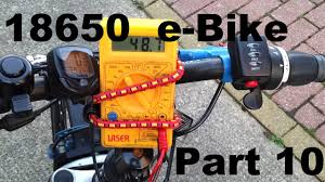 lithium ion 18650 48v e bike battery build diy part 10 voltage drop under load