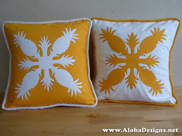 Hawaiian Quilt Pillow Covers golden yellow by AlohaDesigns, $65.00 ... & Hawaiian Quilt Pillow Covers golden yellow by AlohaDesigns, $65.00 Adamdwight.com