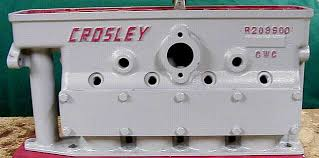 crosley engine family tree note the placement of crosley and the shape of the casting on the back of the block it has a flat top combustion chamber and a thinner bottom flange